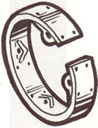 Picture of A2609L ~ Steel Emergency Brake Band With Lining