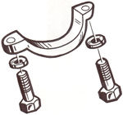 Picture of A3519 ~ Steering Column Bracket With Screws 1928-31