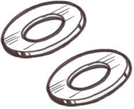 Picture of A4244 ~ Axle Hub Leather Gasket Pair
