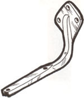 Picture of A5130B ~ Running Board Bracket Rear Right