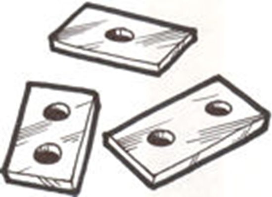 Picture of A5000P ~ Body Block Pads 1928-29