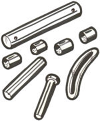 Picture of A750609 ~ Brake & Clutch Pedal Shaft Set