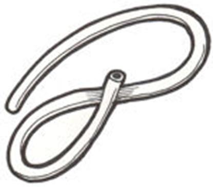 Picture of A17520B ~ Vacuum Wiper Hose Rubber