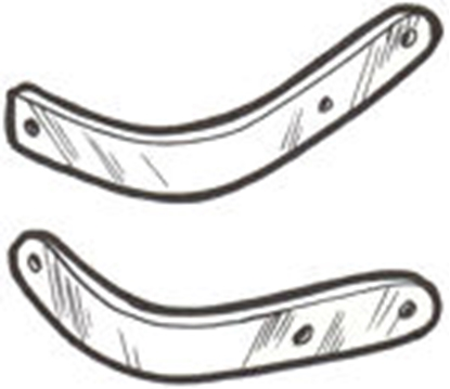 Picture of A1775455BR ~ Front Bumper Braces Pair 1928-29
