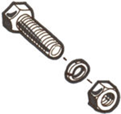 Picture of A17754MB ~ Front Bumper Brace Bolt Kit 1928-29