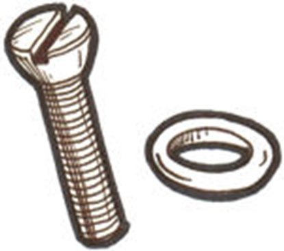 Picture of #33C ~ Floorboard Screw & Washer Set