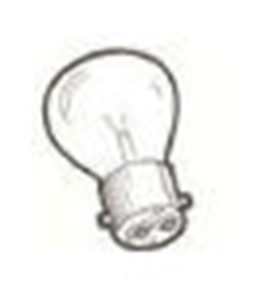 Picture of A13465D ~ Dual Filament Turn Signal Bulb 6 Volt