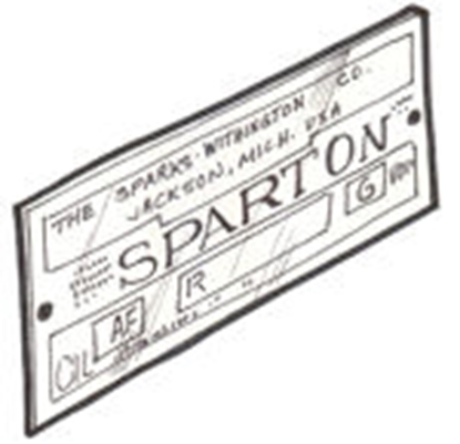 Picture of A13802 ~ Spartan Horn Plate