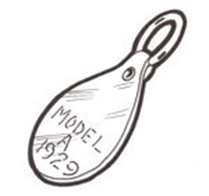 Picture of A11576C ~ Key Fob Leather 1930