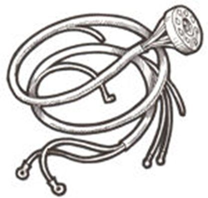 Picture of A11647 ~ Lighting Wire Hardness - 2 Bulb 1928-31 U.S.A.
