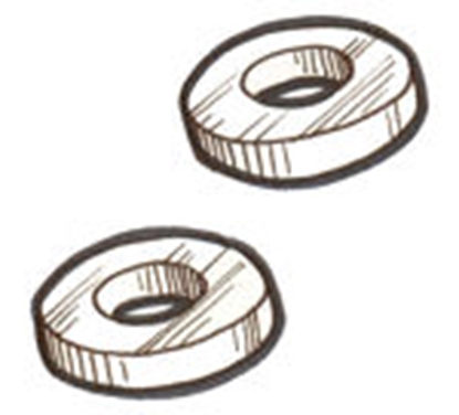 Picture of A45477 ~ Swing Arm Washers Pair