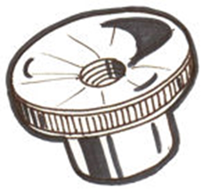 Picture of A45482 ~ Swing Arm Nuts Pair 1928-31