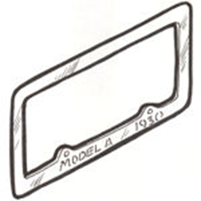 Picture of A13146C ~ License Plate Frame 1930 Pair