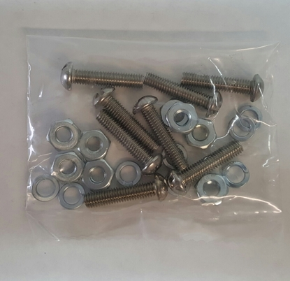 Picture of #32SS ~ Hood Latch Mounting Hardware Stainless Steel 1930-31